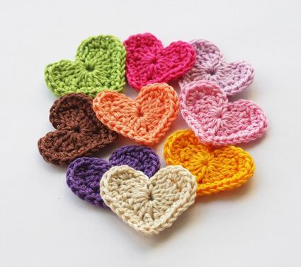 Cómo hacer mini Corazones de crochet   La Creativa Blog