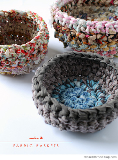 Crocheting On Fabric : fabric crochet